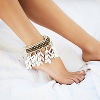 Free People Cantika Shell Anklet