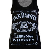 Jack Daniells Casual Vest Top / Black - Womens Clothing Sale, Womens Fashion, Cheap Clothes Online | Miss Rebel
