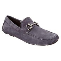 Salvatore Ferragamo Parigi 8Drivers Blue Marin Leather Shoes