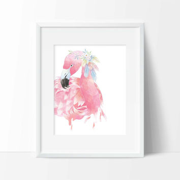 Flamingo Art Print - Wall Art - Animal Decor - Office Decor - Vanity Decor - Home Decor