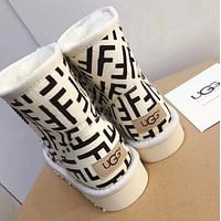 UGG /Fendi Warm snow boots