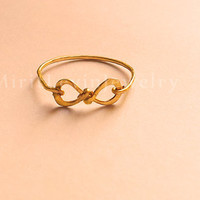 Infinity Ring, 14K Gold filled, Pure Silver, great gift for best friends, bridesmaid gift, wedding pary, bridesmaid ring, thin ring