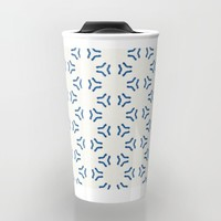 Acrylic Blue Pattern Circles Travel Mug by Doucette Designs