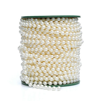 2016 Limited Casamento Shipping! 6mm Pearl Beaded Garlands Chain 25 Meters Wedding Decoration Decorative Chandelier Centerpiece