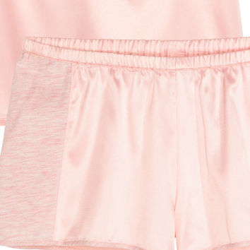 Satin pyjamas - from H&M
