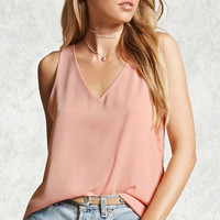 Crepe Woven V-Neck Top