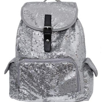 BLING Silver Sequin Backpack FREE Personalziation Dance Bag Cheer Bag Book Bag Overnight School Bag Swim Sports Birthday Flower Girl Youth