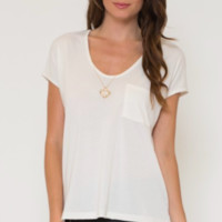 Jersey Short Sleeve Top - White