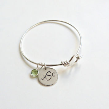 Personalized Bracelet Monogram Bracelet Personalized Bangle Graduation Gift Bridesmaid Jewelry New Mom Gift Friendship Bracelet