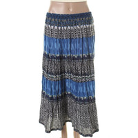 Elementz Womens Petites Cotton Printed Broomstick Skirt
