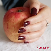 Fashion Lady Candy Fake Nails Tips False Nail Middle Round End MEI P83