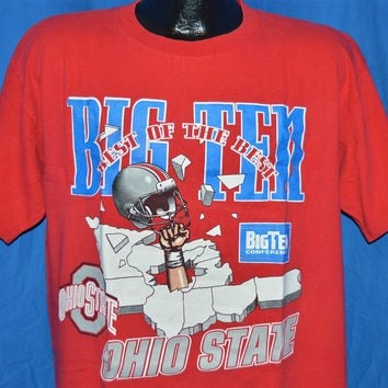 90s Ohio State Big Ten Conference College Football t-shirt Large