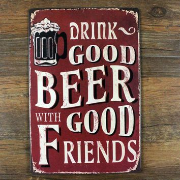 Vintage Tin signs retro Beer