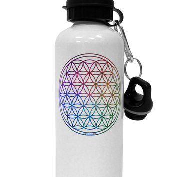 Flower of Life Circle Aluminum 600ml Water Bottle