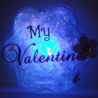 GlowFlower (My Valentine) -unique, cool, gift for her, gift for him, valentine's day, geek