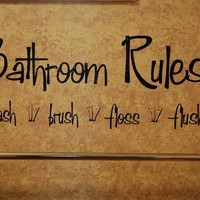 Bathroom RulesVinyl Wall Decal by KreativeCorner on Etsy