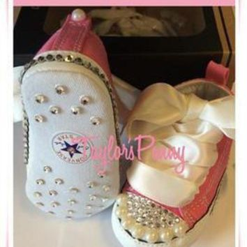 ICIKGQ8 baby first star bling converse with pearls