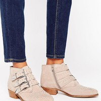 Office Stud Suede Ankle Boots at asos.com
