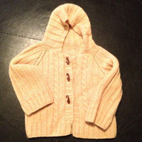 Custom Knit Jacket with Cable Design