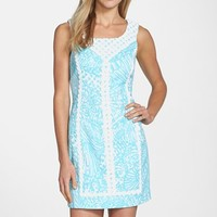 Women's Lilly Pulitzer 'MacFarlane' Lace Trim Print Cotton Shift Dress