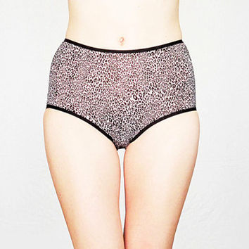 Leopard pattern High Waisted Panties by Egretta Garzetta Underwear