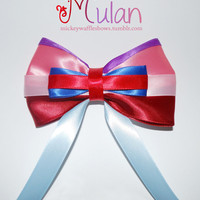Mulan Hair Bow by MickeyWaffles on Etsy