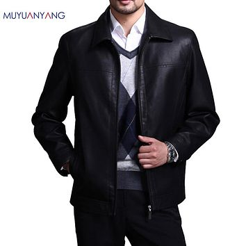 Leather Jackets Men Faux Leather Coats Overcoat Clothing Motorcycle Jackets For Man