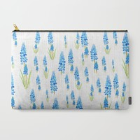blue grape hyacinth Carry-All Pouch by Color And Color