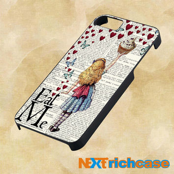 Alice in Wonderland Madhatter Chershire Cat For iPhone,iPod.iPad and Samsung Galaxy case