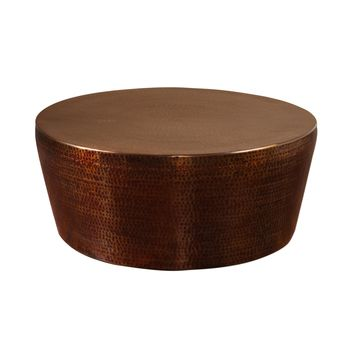 Hania Hammered Rustic Bronze Coffee Table