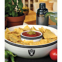Oakland Raiders Ceramic Chip and Dip Bowl