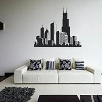 ik1171 Wall Decal Sticker Chicago American city children's bedroom room