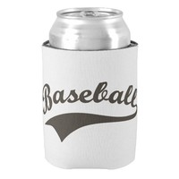 Baseball Text Can Cooler