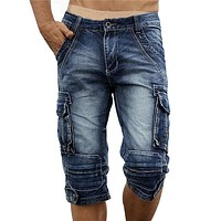 Cargo Denim Shorts
