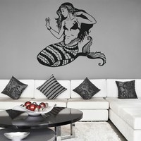 ik1110 Wall Decal Sticker mermaid siren sea nymph naiad bedroom