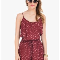 Wine Connect The Dots Romper | $10 | Cheap Trendy Casual Dresses Chic Discount Fashion for Women |