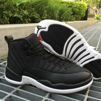 Air Jordan Retro 12 Black Nylon Basketball Shoes Professional Sneakers for men 12s Running shoes athletic shoes size US 5-13