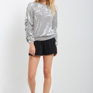 Mal Crushed Velvet Long Sleeve Top
