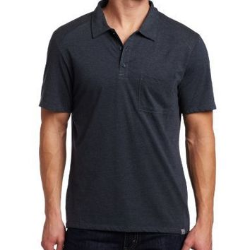 Horny Toad Men's Alibi Short Sleeve Shirt (Blue Steel, Small)