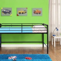Junior Twin Loft Bed Storage Steps Bedroom Furniture Twin Kid Children Sleep New