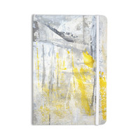 """CarolLynn Tice """"Abstraction"""" Grey Yellow Everything Notebook"""