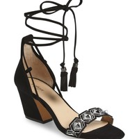 Botkier Penelope Embroidered Ankle Wrap Sandal (Women) | Nordstrom