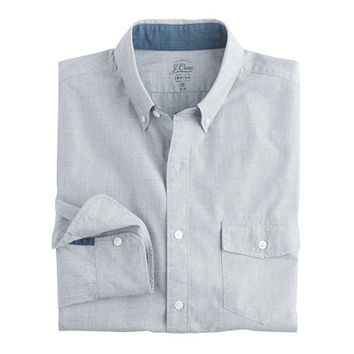J.Crew Mens Slim Indigo Shirt In End-On-End Cotton