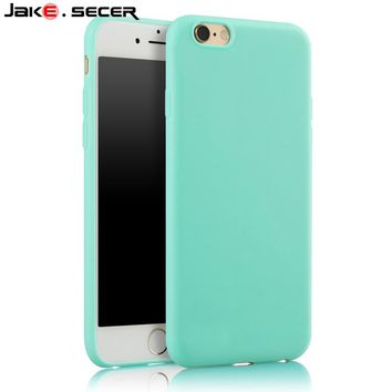 For Apple iphone 5s Case Cover Silicone Best Protective Slim Cheap Green Soft Coque Fundas Case for iphone 5 6 s SE 6s 7 Plus