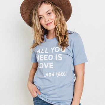 Love And Taco Graphic T-Shirt