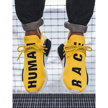 """Adidas"" NMD Human Race  New Fashion Letter Leisure Running Couple Sports Shoes Yellow"