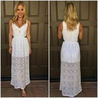 Triangle Remix Maxi Dress - WHITE