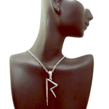 Silver Rihanna Navy Necklace