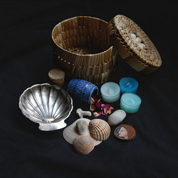 sea witch kit • witch box- mermaid kit - witchcraft kit - mermaid treasure chest - witch altar kit - pagan box - sea witch set