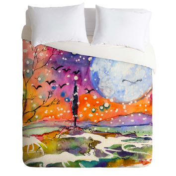 Ginette Fine Art Big Moon Duvet Cover
